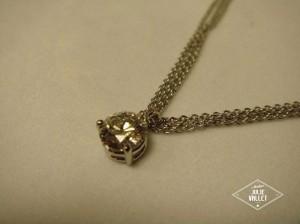 Collier Or Gris Diamant par l'atelier Julie Vallet
