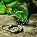 Boucles d'Oreilles arbre de vie par l'Atelier Julie Vallet