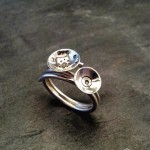 Bague collection empreintes atelier Julie Vallet Poitiers