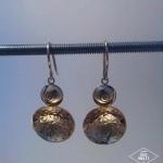 Boucles d'oreilles collection martelés atelier Julie Vallet Poitiers