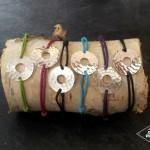 Bracelet monté sur cordon atelier Julie Vallet Poitiers